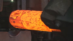 Metallurgy. The factory. Forming. Hot metall. Stock Footage