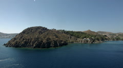 Patmos Island in Greece Stock Footage