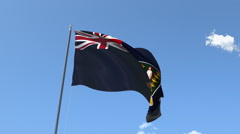 The flag of Virgin Islands Waving on the Wind. Stock Footage