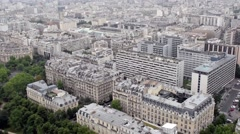 City Wes tView From Eiffel - Paris - stock footage