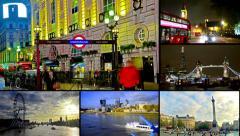 4K london montage collection postcard landmark Stock Footage