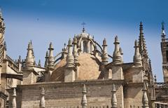 cathedral of seville - stock photo