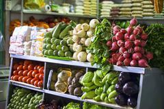 Vegetables at a market Stock Photos