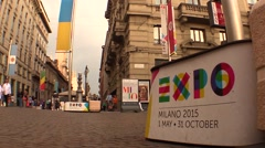 Expo 2015 Banners Stock Footage