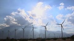 Palm Springs Wind Turbines Stock Footage