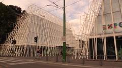 Expo Gate 2015 Milan Stock Footage