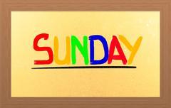 sunday concept - stock illustration