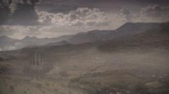 Fantasy rural landscape castle 4K Stock Footage