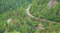 Windy Mountain Road with Traffic Stock Footage