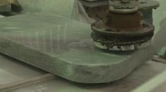 Polished marble slabs Stock Footage