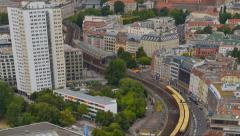 Berlin traffic aerial time lapse tilt pan zoom 11426 Stock Footage