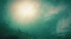 looping underwater background - stock footage