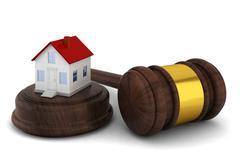 House auction concept Stock Illustration