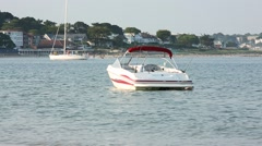 Boat in the sea Stock Footage
