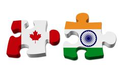 canada working with india - stock illustration