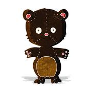 Stock Illustration of cartoon happy black bear