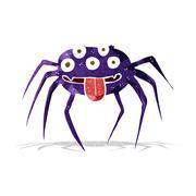 Stock Illustration of cartoon gross halloween spider