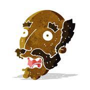 Stock Illustration of cartoon shocked old man