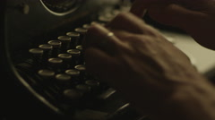 Type on Vintage Manual Typewriter 1 - stock footage
