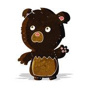 Stock Illustration of cartoon black teddy bear