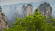 Stock Video Footage of Wulingyuan mountain slider timelapse 02 4K