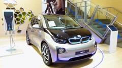All-electric car bmw i3 Stock Footage