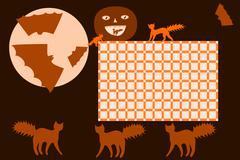 School timetable Halloween - stock illustration