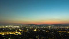 4K Athens skyline sunset day to night timelapse Stock Footage