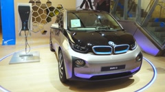 All-electric car bmw i3 Stock Footage