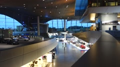 BMW-Welt Munich Interior, Bavaria, Germany - stock footage