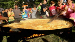 World record in serbia 1008 baked eggs  Stock Footage