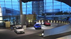 BMW-Welt Munich Interior, Bavaria, Germany - stock footage