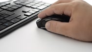 Stock Video Footage of Man hand move to the PC mouse and use PC keyboard 1080p