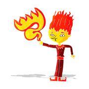 Stock Illustration of fire spirit cartoon