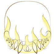 frame with flame.  illustration - stock illustration