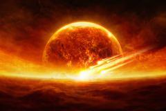 Exploding planet Stock Illustration