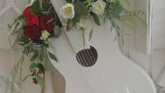 Collage art guitar 2 Stock Footage