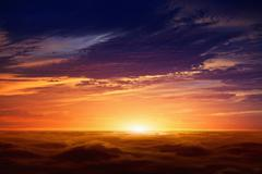 Stock Photo of red sunset