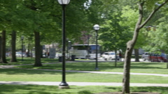 Campus Pan Right to Left Stock Footage