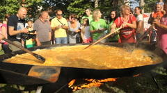 1008 baked eggs  ,world record Stock Footage
