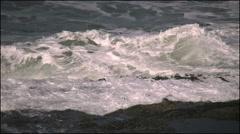 Oregon coast wave action 4k Stock Footage