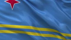 Flag of Aruba seamless loop Stock Footage
