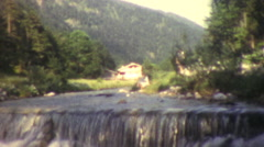 alpine pasture, 1950s - stock footage