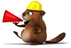 beaver - stock illustration