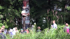Totem Poles, tours from cruise ship Stock Footage