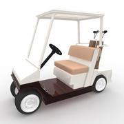 gold cart - 3D model