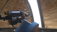 Observatory with a telescope 2 - stock footage