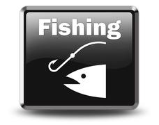 icon, button, pictogram fishing, angling - stock illustration