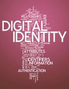 Word cloud digital identity Stock Illustration
