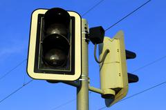 Traffic Light For Pedestrians - stock photo